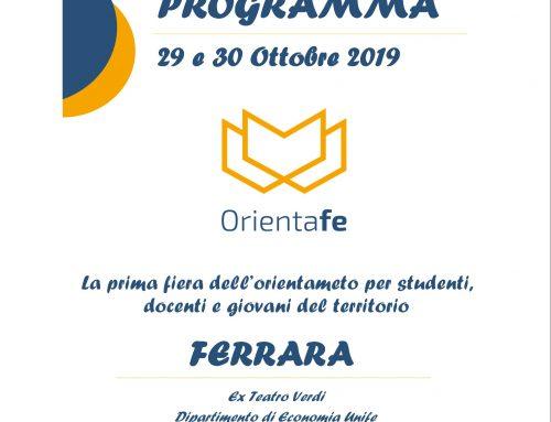 PROGRAMMA DEL FESTIVAL DELL'ORIENTAMENTO DI FERRARA PDF